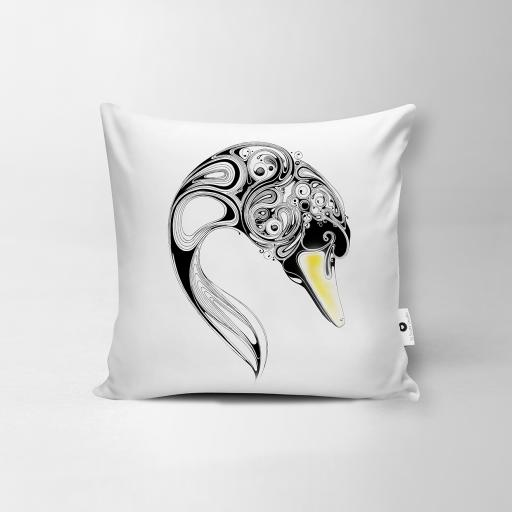 Swan Vegan Suede Cushion
