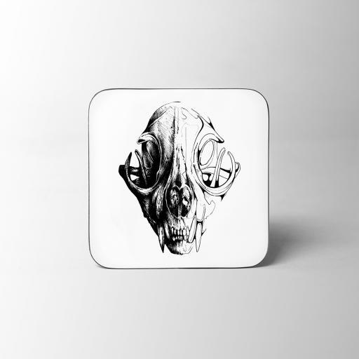 Skull Wooden Coaster