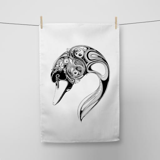 Swan Cotton Tea Towel