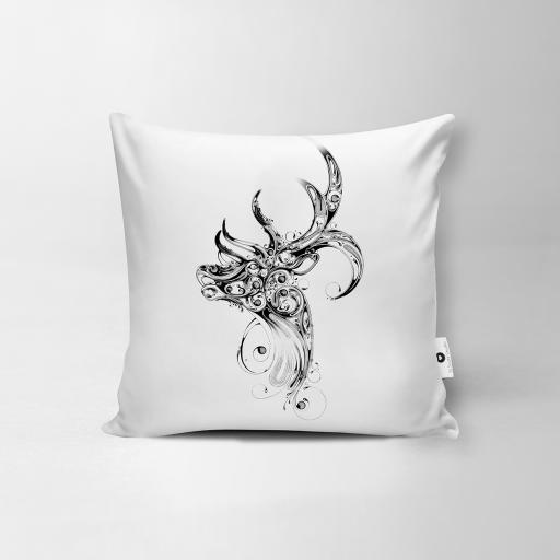 Stag Vegan Suede Cushion