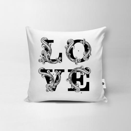 Love Vegan Suede Cushion