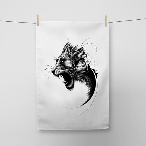 Lion Cotton Tea Towel