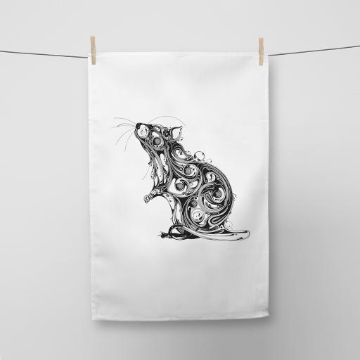 Rat Cotton Tea Towel