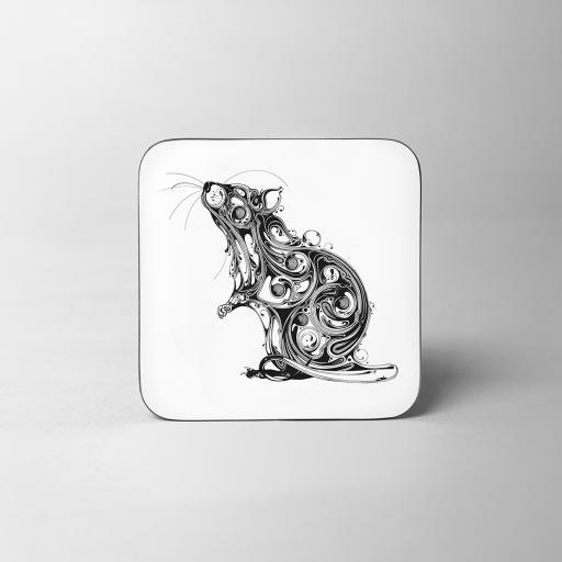 Rat Wooden Coaster