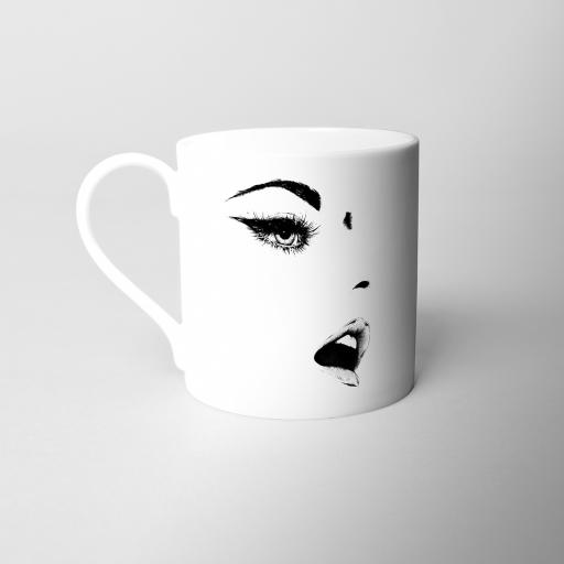 Woman Fine Bone China Mug