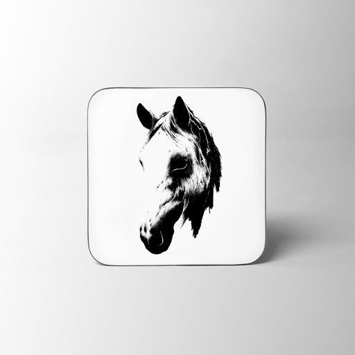 Horse Head Wooden Coaster