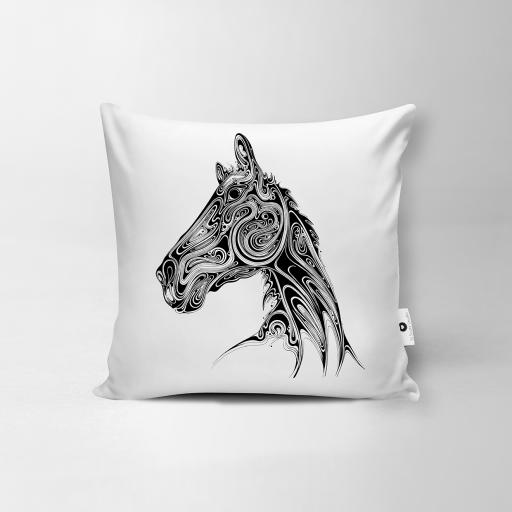 Horse Vegan Suede Cushion