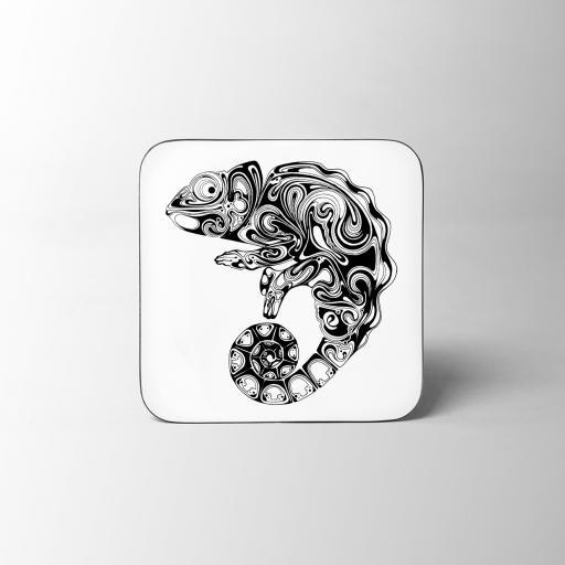 Chameleon Wooden Coaster
