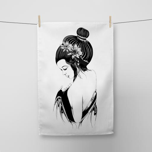Geisha Cotton Tea Towel