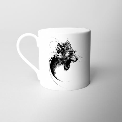 Lion Fine Bone China Mug