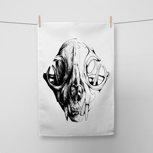 Skull Cotton Tea Towel