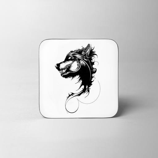 Wolf Wooden Coaster