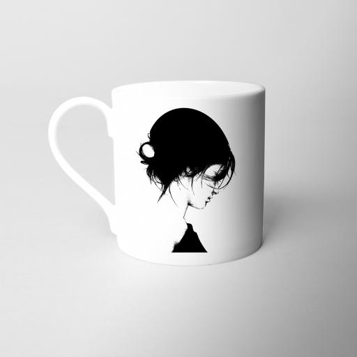 Pearl Girl Fine Bone China Mug