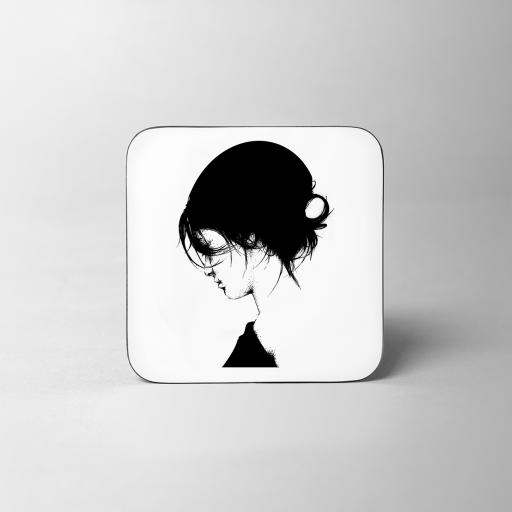 Pearl Girl Wooden Coaster