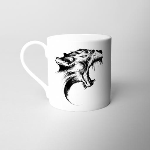 Panther Fine Bone China Mug