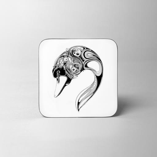 Swan Wooden Coaster - 1 LEFT
