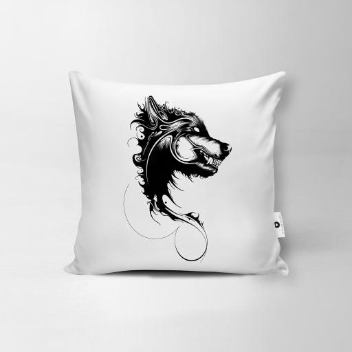 Wolf Vegan Suede Cushion - SOLD OUT