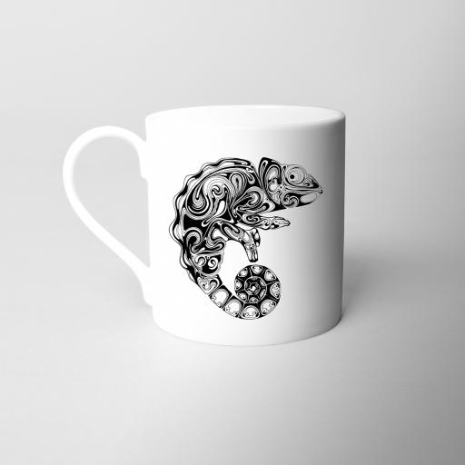 Chameleon Fine Bone China Mug