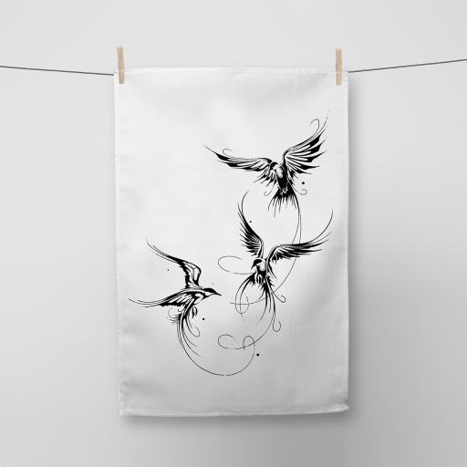 Birds Cotton Tea Towel