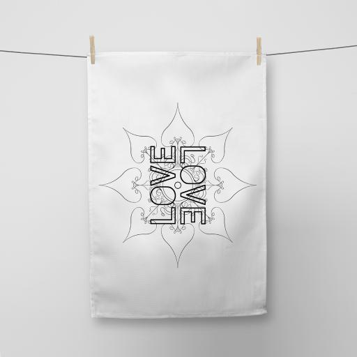 Love Pattern Cotton Tea Towel