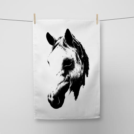 Horse's Head Cotton Tea Towel