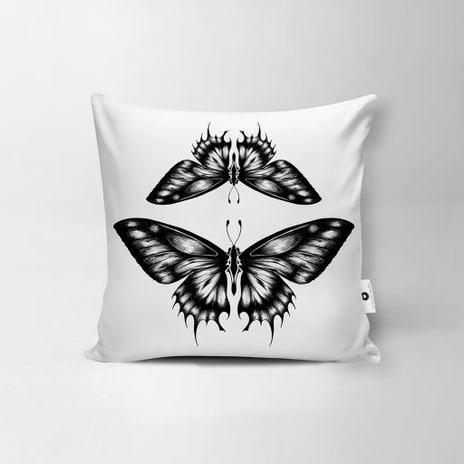 Butterfly Vegan Suede Cushion