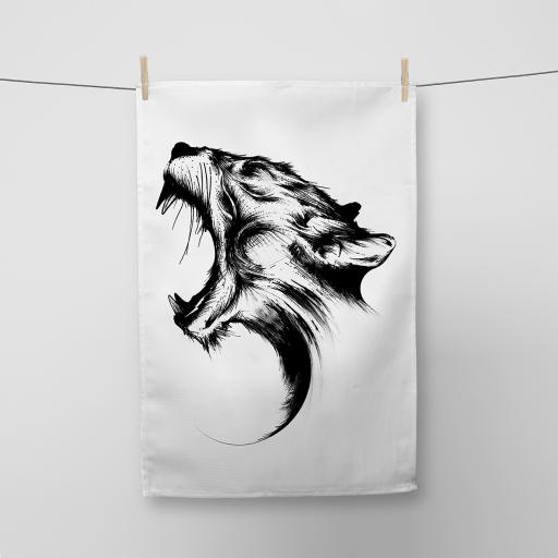 Panther Cotton Tea Towel