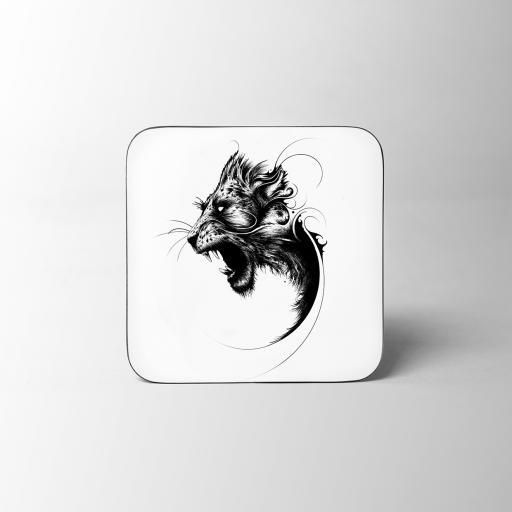 Lion Wooden Coaster