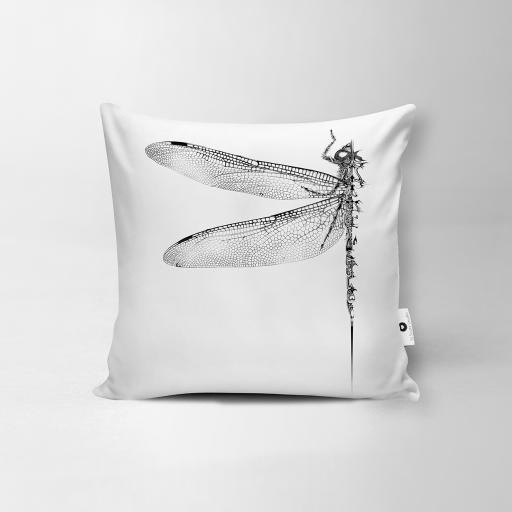 Dragonfly Vegan Suede Cushion