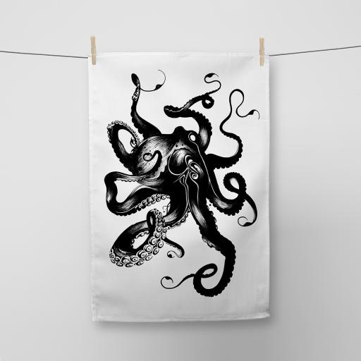 Octopus Cotton Tea Towel