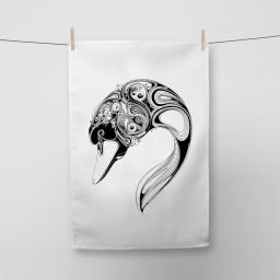 Swan Tea Towel Si Scott WB.jpg
