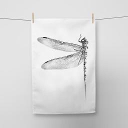 Dragonfly Tea Towel Si Scott WB.jpg