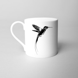 Girl & Hummingbird Bird Fine Bone China Mug Si Scott WB.jpg