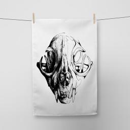 Skull Tea Towel Si Scott WB.jpg