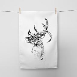 Stag Tea Towel Si Scott WB.jpg