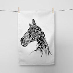 Horse Tea Towel Si Scott WB.jpg