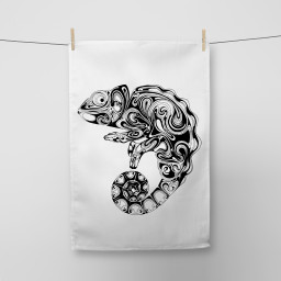 Chameleon Tea Towel Si Scott WB.jpg