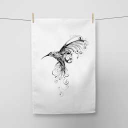 Hummingbird Tea Towel Si Scott WB.jpg
