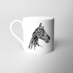 Horse Fine Bone China Mug Si Scott WB.jpg