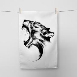 Panther Tea Towel Si Scott WB.jpg