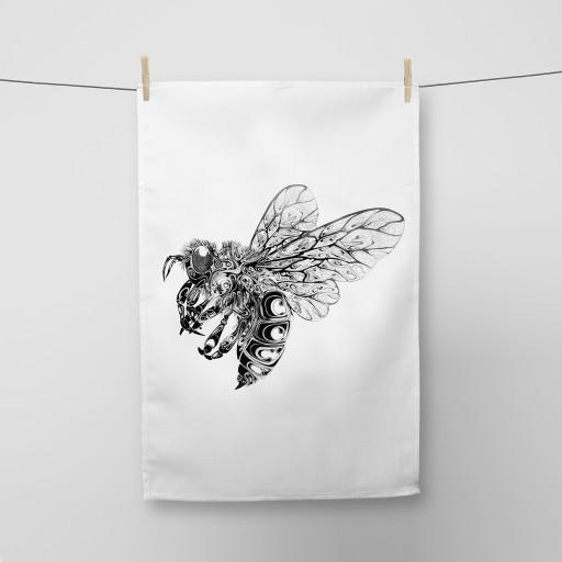 Bee Tea Towel Si Scott WB.jpg
