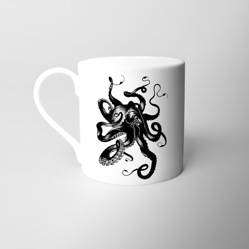 Octopus Fine Bone China Mug Si Scott WB.jpg