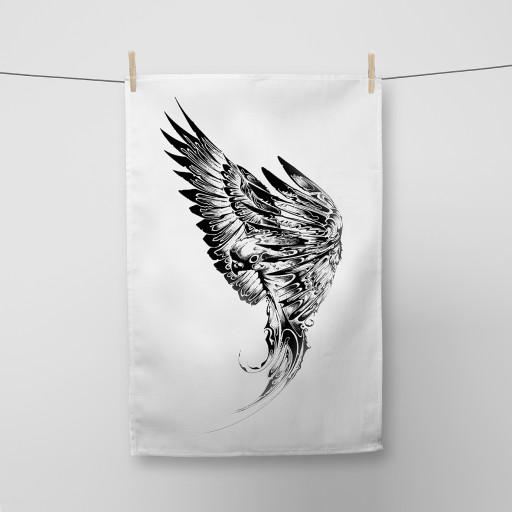 Parakeet Tea Towel Si Scott WB.jpg