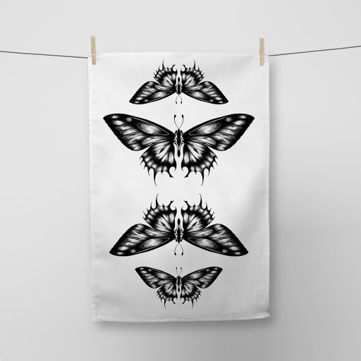 Butterflies Tea Towel Si Scott WB.jpg