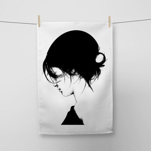 Pearl Girl Tea Towel Si Scott WB.jpg