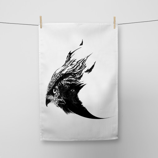 Hawk Tea Towel Si Scott WB.jpg