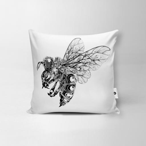 Bee Vegan Suede Cushion