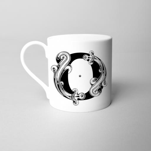 Letter O Fine Bone China Initial Mug