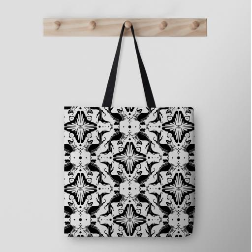 Illustrated Cotton Tote Bag