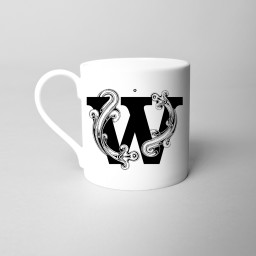 Si Scott 'W' Alphabet Initial Monogram Fine Bone China Mug.jpg